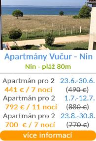 Apartmány Vučur - Nin