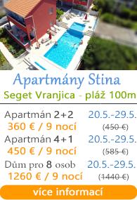 Apartmány Stina - Seget Vranjica