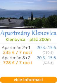 Apartmány Klenovica