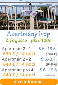 Apartmány Ivop Živogoače