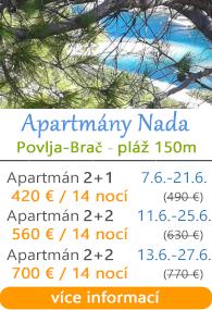 Apartmány Nada Povlja