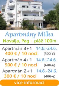 Apartmány Milka Novalja