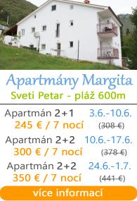 Apartmány Margita - Sveti Petar