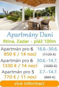 Apartmány Dani Rtina