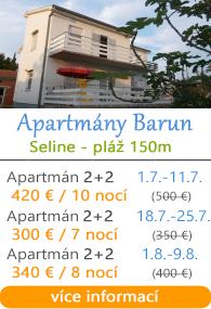 Apartmány Barun Seline u Paklenice