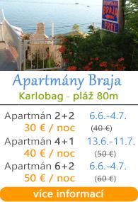 Apartmány Braja - Karlobag