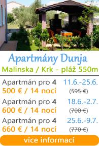 Apartmány Dunja - Malinska