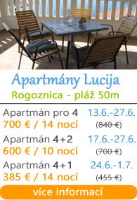 Apartmány Lucija - Rogoznica