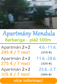 Apartmány Mendula - Barbariga