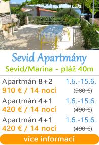 Apartmány Sevid - Marina