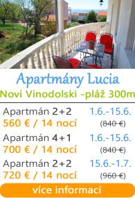 Apartmány Lucia - Novi Vinodolski