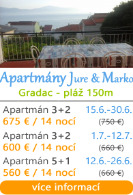 Apartmány Jure a Marko - Gradac