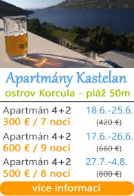 Apartmány Kastelan - Korčula