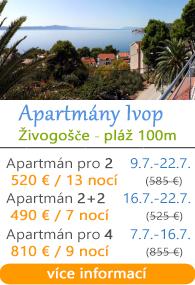 Apartmány Ivop - Živogošče