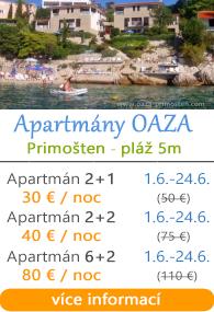 Apartmány Oaza - Primošten