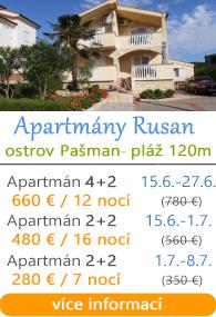 Apartmány Rusan - Pašman
