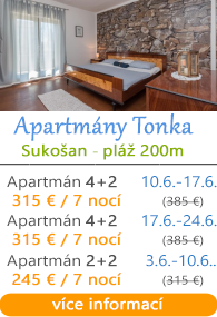 Apartmány Tonka - Sukošan