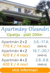 Apartmány Oleandri - Opatija