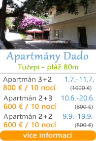 Apartmány Dado - Tučepi