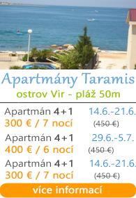 Apartmány Taramis - ostrov Vir