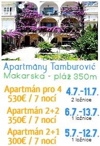 Apartmány Tamburovic