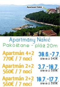 Apartmány Nakic Pakoatane