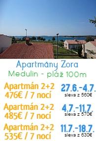 Apartmány Zora Medulin
