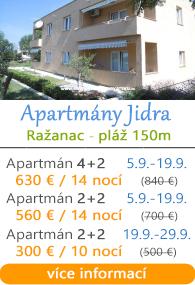 Apartmány Jidra - Ražanac u Zadaru