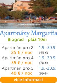 Apartmány Margarita Biograd