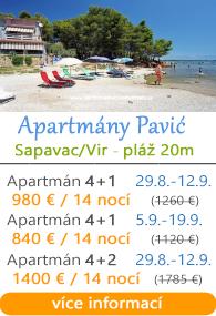 Apartmány Pavić Sapavac na Viru