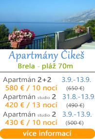 Apartmány Čikea Brela