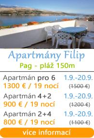 Apartmány Filip Pag