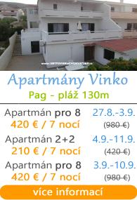 Apartmány Vinko ostrov Pag
