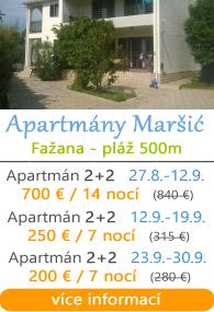 Apartmány Maraić - Fažana - Valbandon