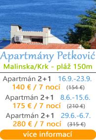 Apartmány Petković - Malinska na Krku