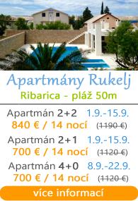 Apartmány Rukelj - Ribarica