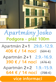 Apartmány Josko - Podgora