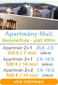 Apartmány Muti - Banjole - Pula