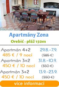 Apartmány Zona - Orebič