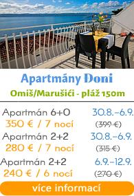 Apartmány Đoni - Omia - Maruaiči