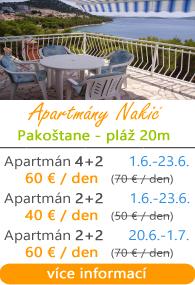 Apartmány Nakič Drage
