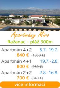 Apartmány Miro Ražanac