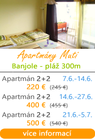 Apartmány Muti Banjole