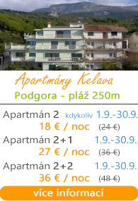 Apartmány Kelava Podgora