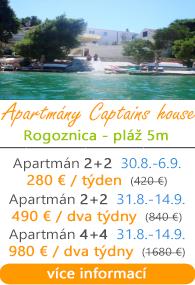 Apartmány Captains House Rogoznica