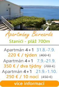 Apartmány Bernarda Stanići
