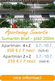 Apartmány Sumartin Brač
